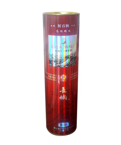 长城葡萄红酒包装罐