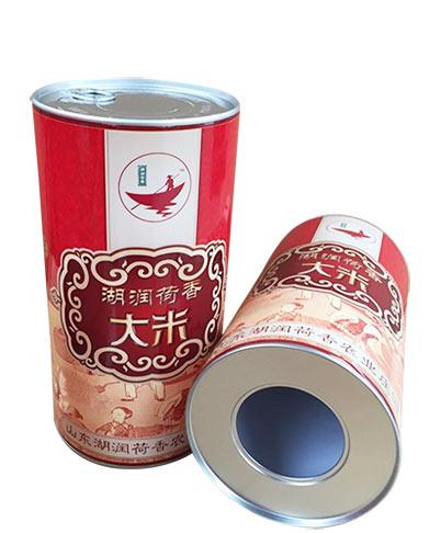 湖泽荷香大米纸罐